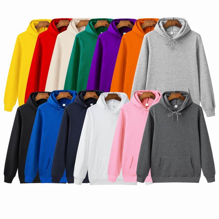 Quality Brand Men Hoodie 2020 Autumn Male Hip Hop Streetwear Men Pullover Sweatshirts Hoodies Mens  13 Solid Color Hoodie