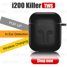 i200 Killer Perfect 1:1 Air 2 Wireless Bluetooth Earphone Original Animation Pop-up In-ear Detection For IP6 7 8 X TWS(China)