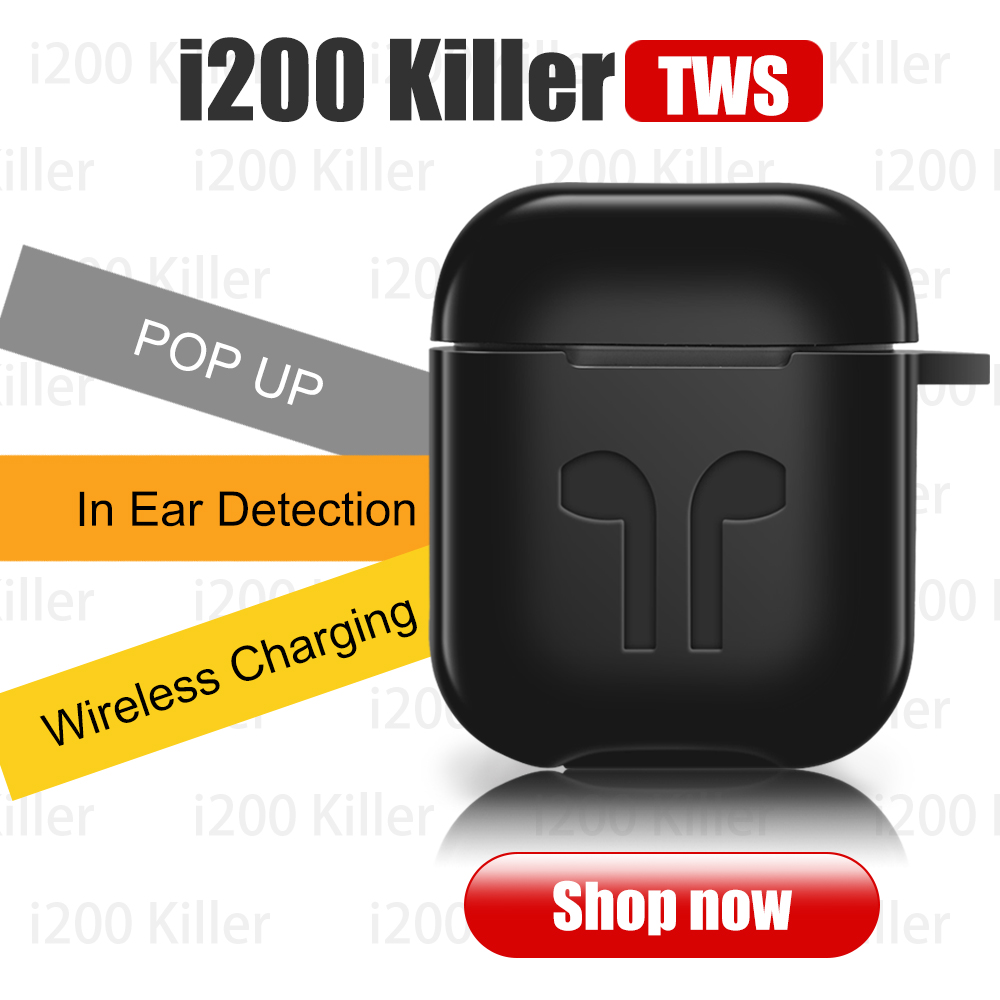 i200 Killer Perfect 1:1 Air 2 Wireless Bluetooth Earphone Original Animation <font><b>Pop</b></font>-<font><b>up</b></font> In-ear Detection For IP6 7 8 X <font><b>TWS</b></font> image