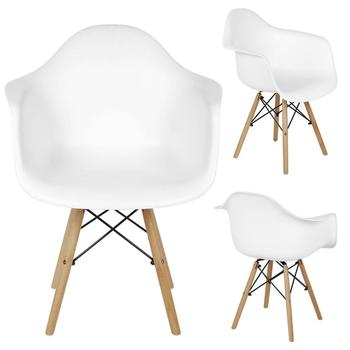 2Pcs/set Leisure Dining Chair Modern Design Plastic Chair Wood Feet Chair For Dining Room Kitchen Cafe Study Room HWC