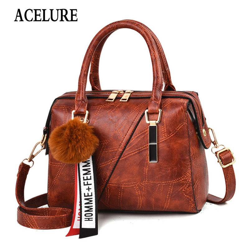 Leather Handbags Small Women Bag High Quality Casual Female Trunk Tote Spanish Brand Shoulder Bag Ladies Messenger Bag ACELURE
