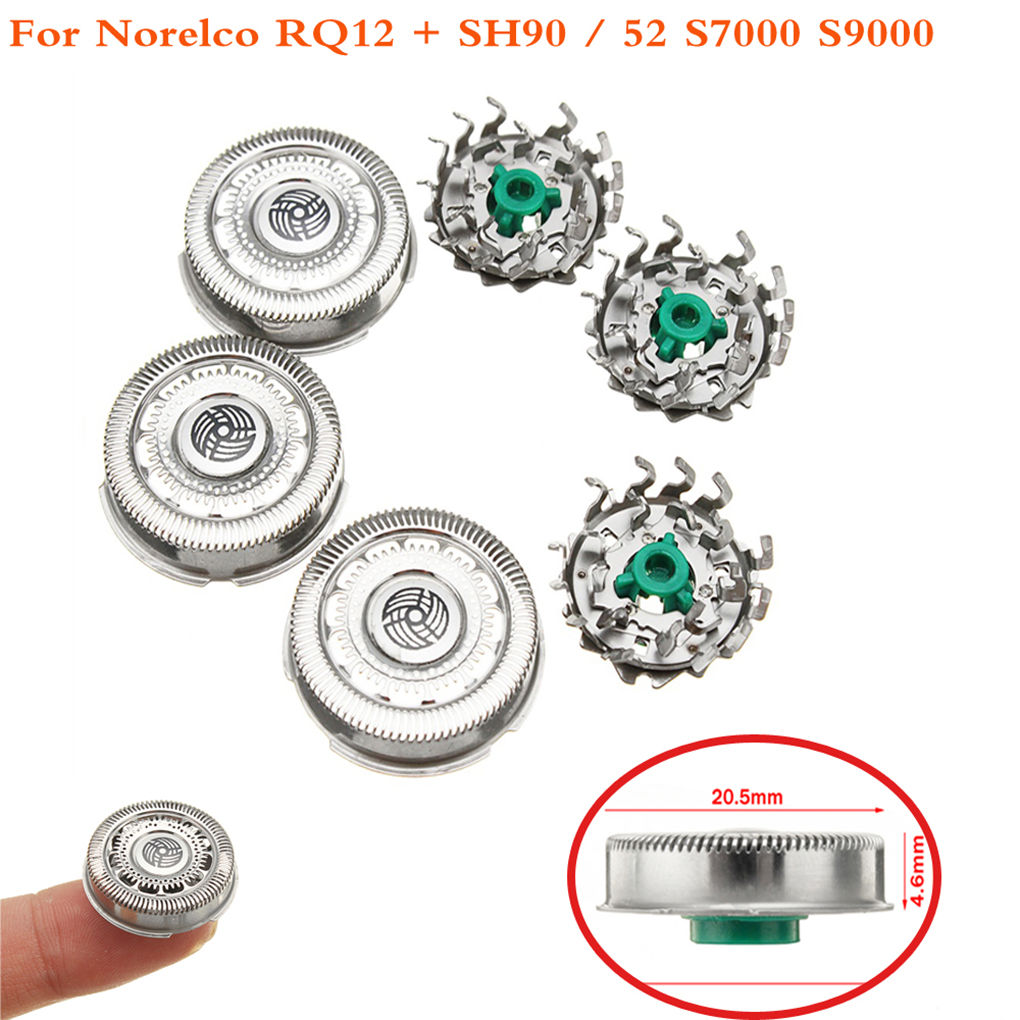 3PCS Replacement For Norelco SH90/52 S7000 S9000 Shaver Razor Shaving Pieces Stainless Steel