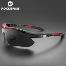 ROCKBROS Polarized Road Cycling Glasses Protection Eyewear Goggles Men Sports