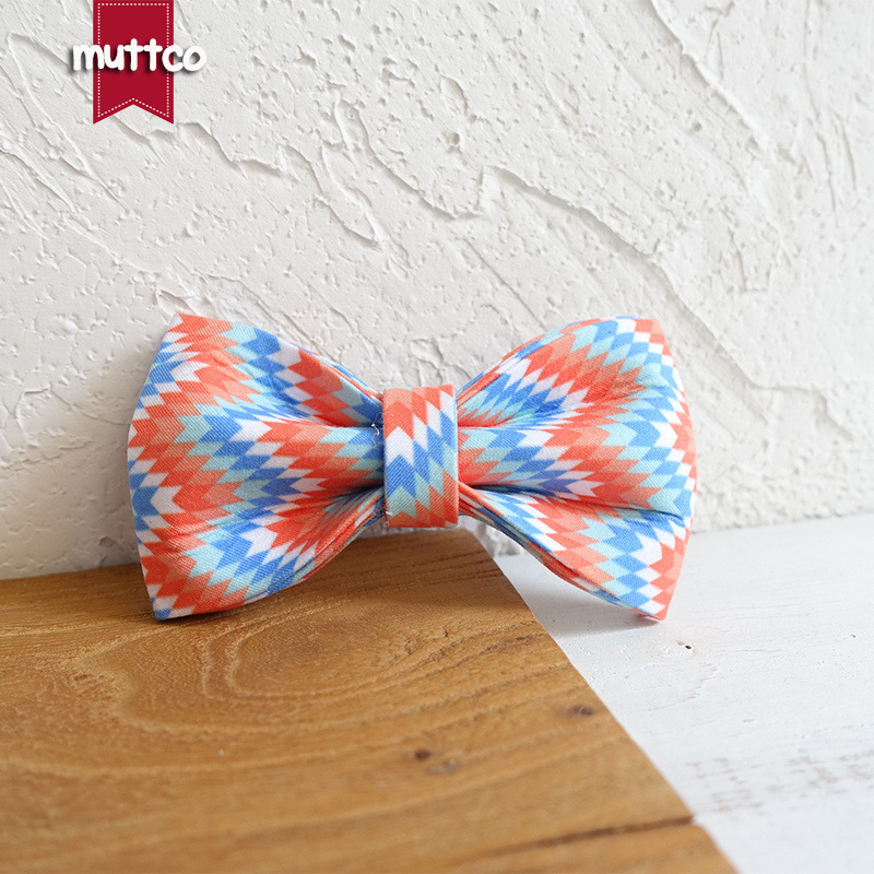 Muttco Pet Dog Circle Accessories Bowtie Creative Entirely Handmade Dog Bow Ubt-064