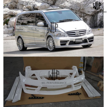 W639 FRP unpainted Car body kit Front Rear bumper Side skirts For Mercedes-Benz W639 Viano Car styling 12-15
