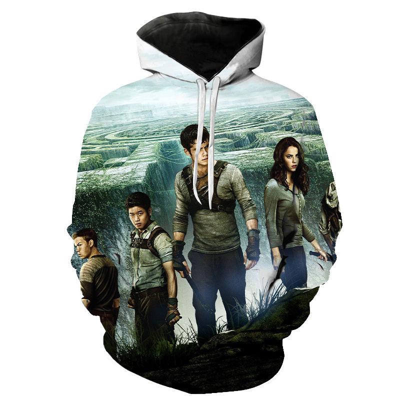 2020 New Hoodies Sweatshirt Men Women Children Funny The Maze Runner Print Casual Hoodie Streatwear Cool Movie Hoody Pullover
