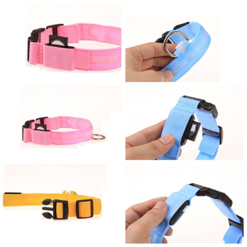 Led Pet Dog Collar LED Light Night Safety Flashing Glow Dark Dog Leash Cat Luminous Fluorescent Collars Pets Supplies (4)