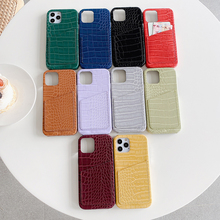 Luxury brand 3D crocodile skin pattern Hard leather phone case for apple iphone 7 8 Plus X 12 XR MAX 11 Pro Card package cover
