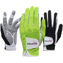 Pack 1 pièces Efunist gant de Golf homme porté sur main gauche vert noir 3D Performance maille antidérapante Micro fibre livraison directe