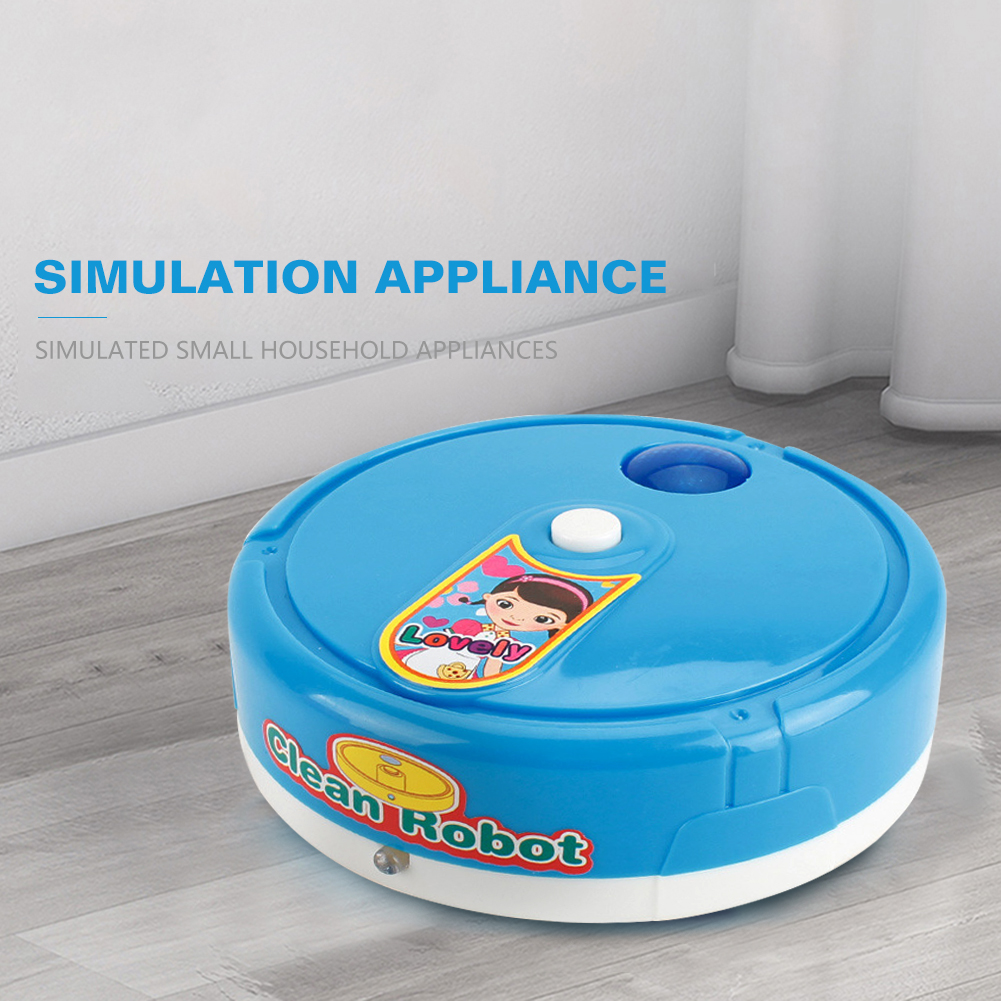 Pretend Play Vacuum Cleaner Toys Kids Cleaning Furniture Tools Mini Simulation  Sweeping Robot Vacuum Clean Toy