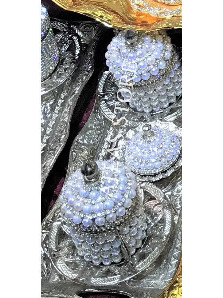 2 персоны кофейный набор кристаллы серебряный цвет фарфор с крышкой