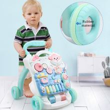 Multifuctional Baby Walker Toys with Increasing Weight Water Box for Anti-rollover Toddler Trolley Sit-to-Stand Musical Walker