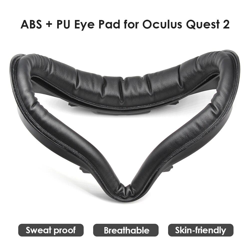 Para oculus quest 2 vr interface facial e couro do plutônio espuma rosto almofada fone de ouvido substituição parte protetora esteira do olho vr acessórios