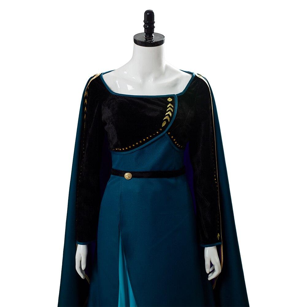(Em estoque) rainha anna cosplay vestido de