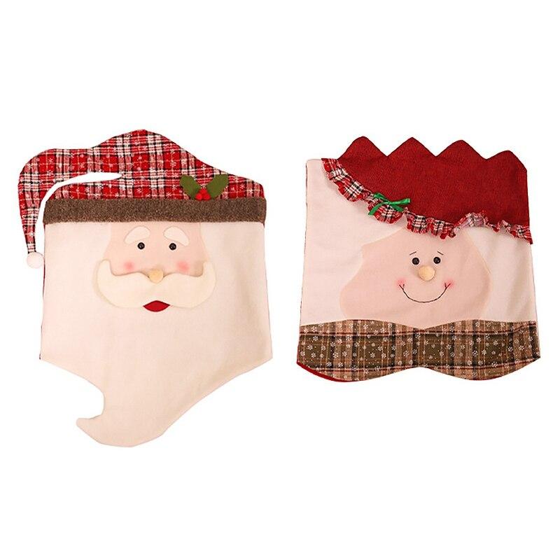 Купить 1 шт рождественский санта клаус кухня обеденный стол и стул
