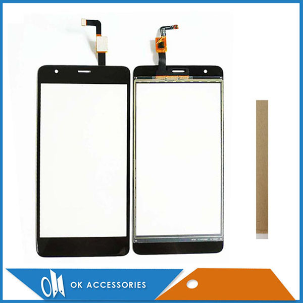 5.5 Inch For Fly Power Plus FHD FS554 Touch Screen Digitizer Panel New Mobile Phone Touchscreen Black Color With Tape image