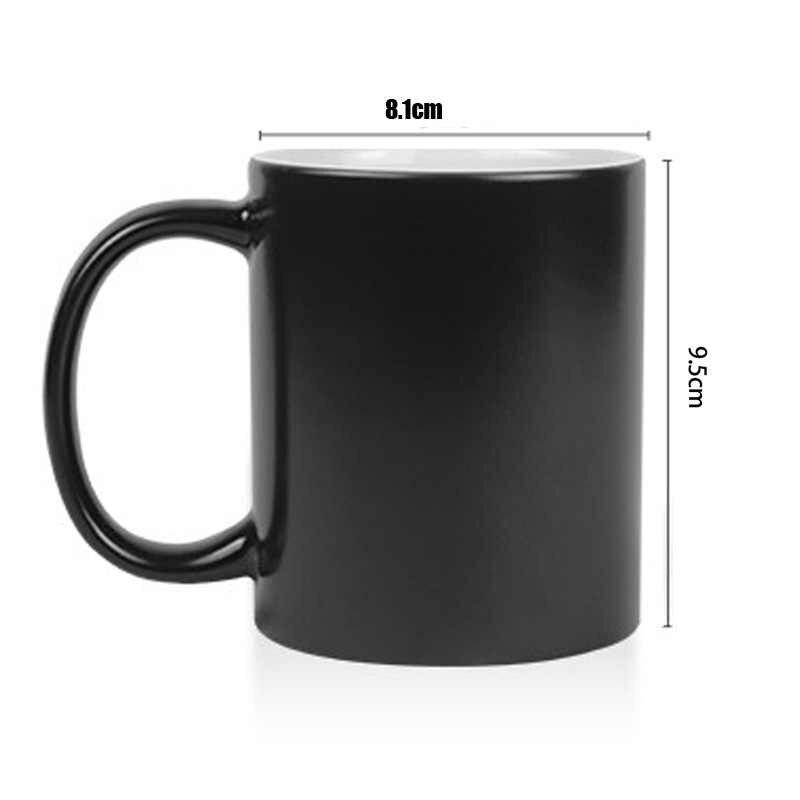 Funny nowość Animal CAT ceramiczny kubek na kawę zmieniający kolor wrażliwy na ciepło magiczna herbata kubek kubki zaskoczony prezent