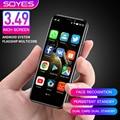 Ультра-тонкий мини-смартфон Soyes S10-H Оперативная память 3 Гб оперативной памяти, Встроенная память 64 ГБ Android 9,0 двойная sim-карта 4G Студент мобил...