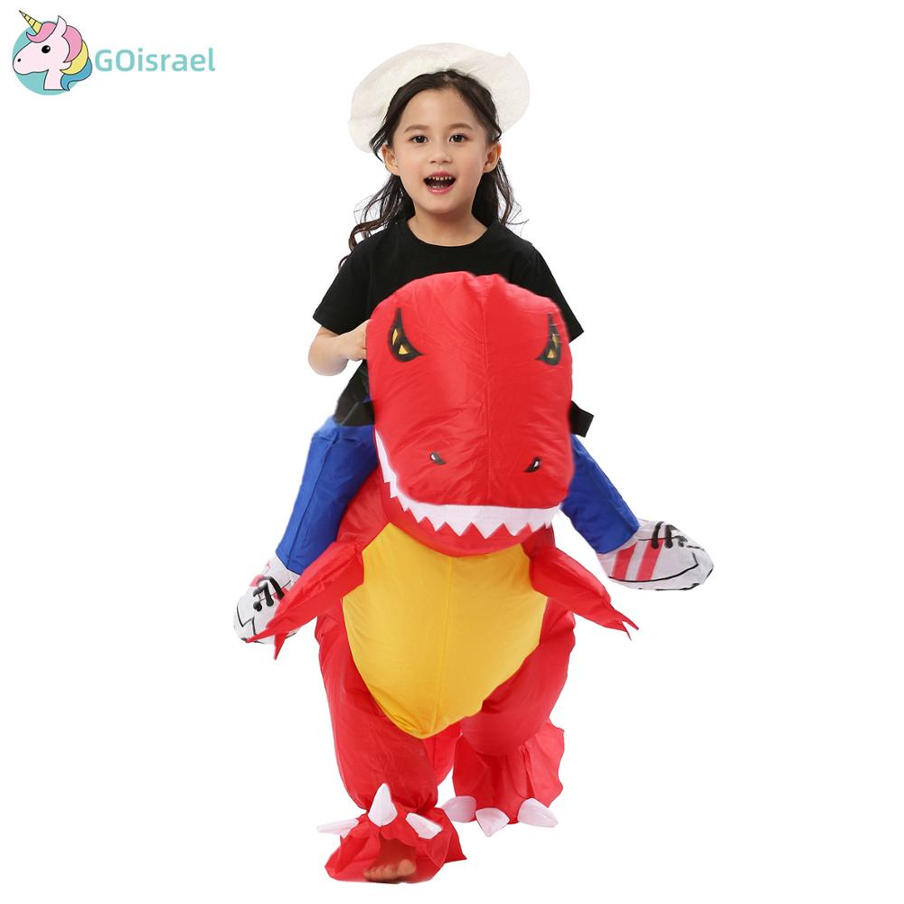 Women Men Inflatable T-Rex Trex Dinosaur Costumes Halloween Christmas Party Cosplay Blowup Suit Adult Kid Carnival Dress Mascot
