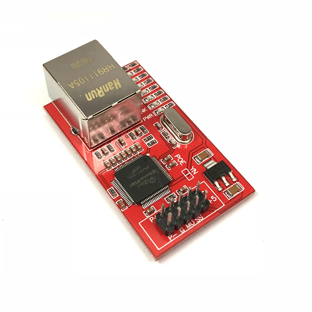 OULLX Mini W5100 LAN Ethernet Shield Network Board Module R3 W5100 3.3V Compatible For Ethernet UNO Mega 2560 3