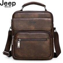 JEEP BULUO männer Handtaschen Berühmte Marke Große Größe Mann Leder Crossbody Schulter Messenger Tasche Für 9,7 zoll iPad Casual business