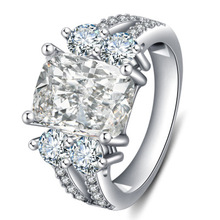 Classic concise design generous high quality zircon crystal CZ womens ring fashion jewelry gift Engagement Wedding Ring