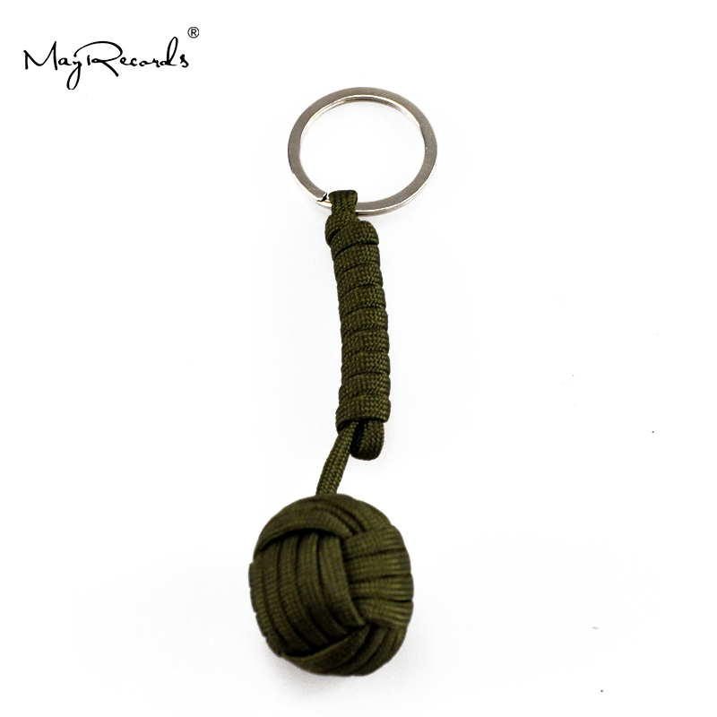 1 PC Nyckelring Säkerhetsskydd Monkey Fist Steel Ball Bearing Self Defense Lanyard Survival En bit