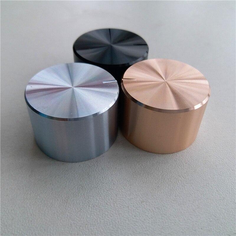 8pcs Aluminum Plastic Potentiometer Knob 26*17*6mm Knob Black Silver Gold O Shaft Chassis Volume Cap Amplifier Knobs