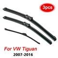 Щетки стеклоочистителя лобового стекла для VW Tiguan, комплект стеклоочистителей переднего и заднего стекла 2016, 2015, 2014, 2013, 2012, 2011, 2010, 2009, 2008, 2007