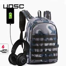 Uosc синий камуфляжный рюкзак для ноутбука с защитой от кражи