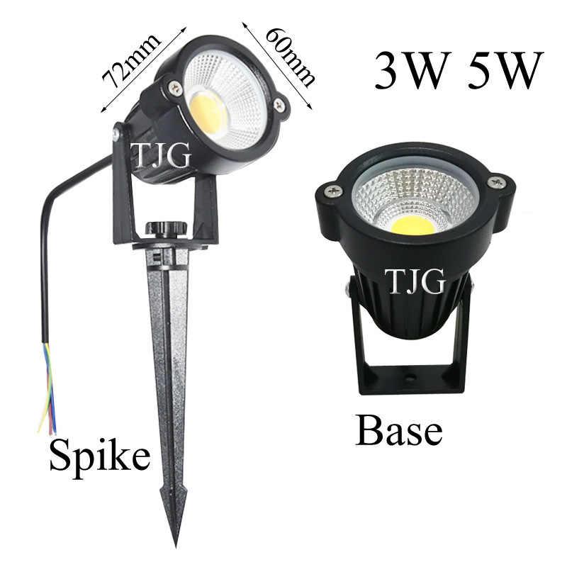 Nuevo estilo COB lámpara de jardín para césped luz 220V 110V 12V al aire libre LED Spike Light 3W 5W camino paisaje impermeable focos