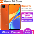 Глобальная версия Xiaomi Redmi 9C мобильный телефон, 3 Гб оперативной памяти, 64 Гб встроенной памяти, Процессор MTK Helio G35 13MP Тройная камера 5000 мАч бат...