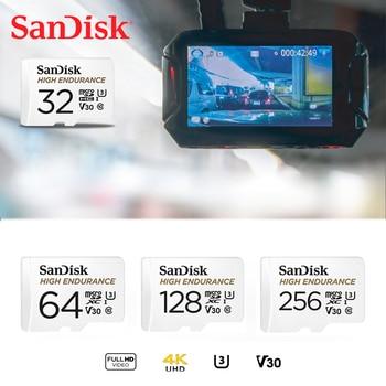 SanDisk HIGH ENDURANCE microSD Card 64GB U1Up to 100MB/s 32GB Class 10 memory card 128GB video speed U3 V30 Full HD 4K 256GB