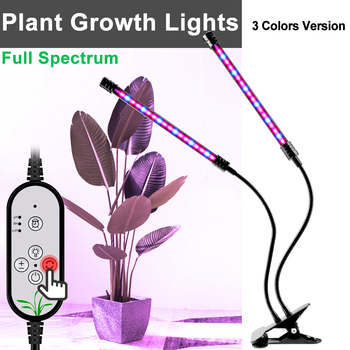 Led Grow Light 3 Heads Full Spectrum Indoor Lighting Plants Lamp 5V Dimmable Hydroponics Phyto Usb Box