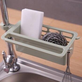 Nueva cocina fregadero Caddy esponja titular organizador de almacenamiento jabón escurridor estante filtro de los productos para organizador de cocina