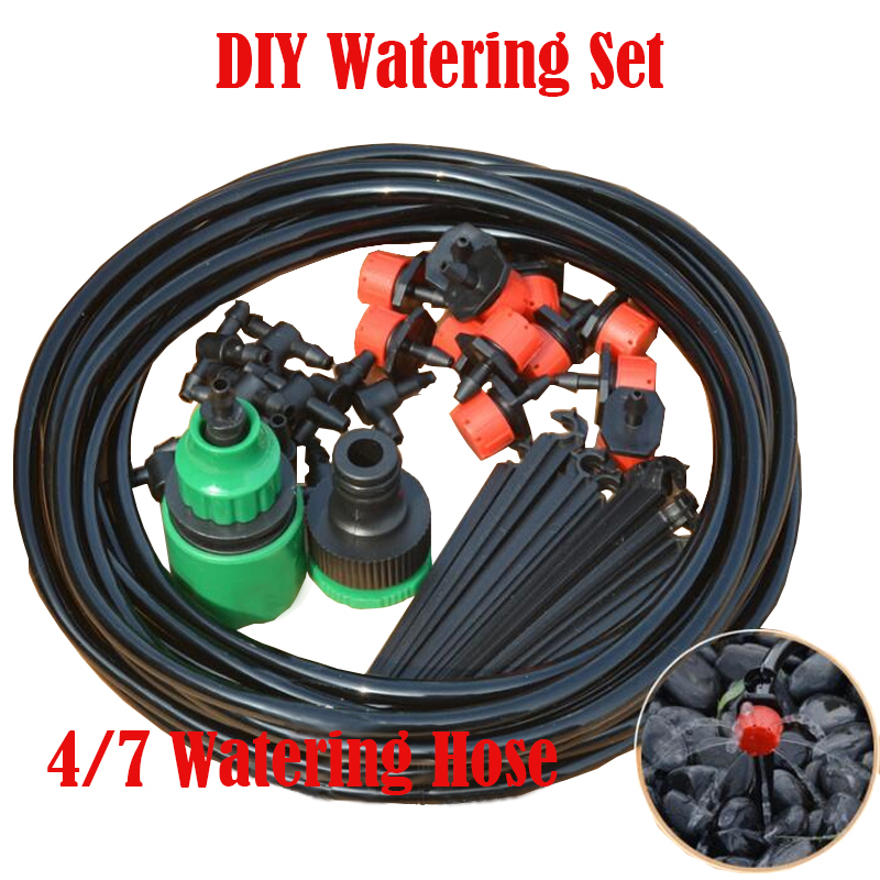DIY Drip Irrigation System Automatic Watering Garden Hose Micro Drip Watering Kits With Adjustable Drippers Garden Watering