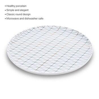 Hot Simple Ceramic Plate  Livingware Dinner Serving Plate Porcelain Dishes Microwave Safe Dishwasher Safe Porcelain Plate