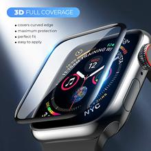 Screen-Protector-Film Tempered-Glass Watch-Series Apple 3D HD for 4/5-38mm 42MM Curved-Edge
