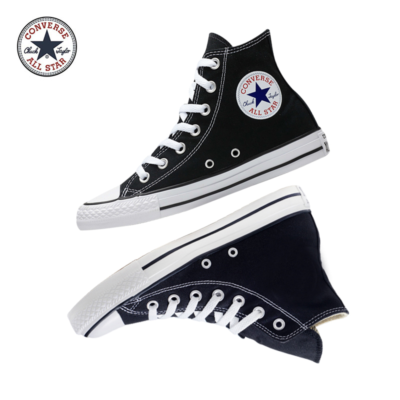 Original Authentic Converse ALL STAR Classic High-top Unisex Skateboarding Shoes Good Quality Lace-up Durable Canvas Footwear