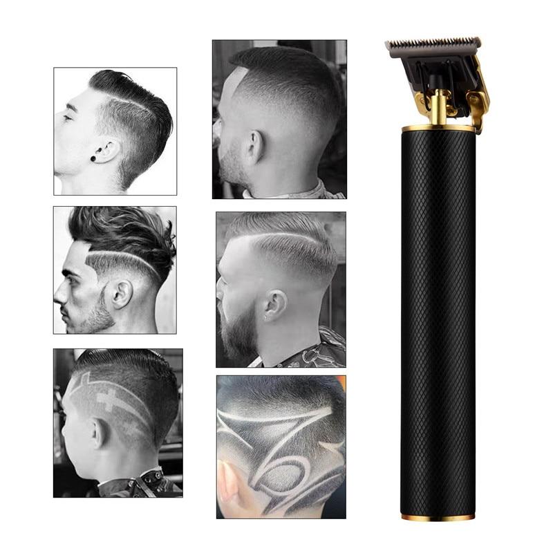 USB Rechargeable Ceramic Hair Clipper Barber Hair Cutting Machine  Beard Trimmer Edge Outlines Haircut Men Hair Styler Tool