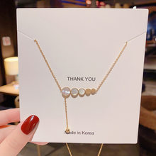 Stainless Steel Necklaces for Women Gold Disc Fritillaria Pendant Necklace Choker Steel Fashion Jewelry Wholesale