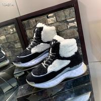 High Tops New Designer pearl Lambs wool Tpu rubber foam combination outsole Sneakers Casual Shoes women Vulcanized Shoes 35 40