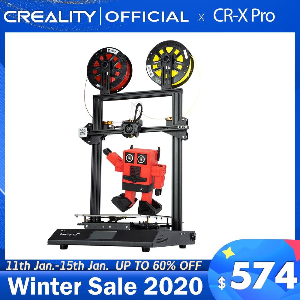 3D-принтер CREALITY 3D CR-X PRO, двухцветный, BL Touch, бесшумная материнская плата, источник питания Meanwell, нить из пла 2 кг
