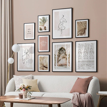 Leaf Vintage Poster Building Nordic Art Print Quotes Abstract Woman Canvas Painting Scandinavian Wall Picture Living Room Decor scandinavian pink swan sea canvas poster abstract wall art print motivation painting nordic decoration picture living room decor