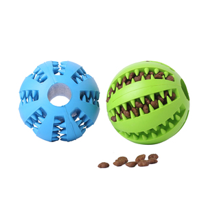 Dog Toys Funny Interactive Elasticity Ball Dog Chew Toy For Dog Tooth Clean Ball Of Food Extra-tough Rubber Ball