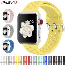 Kompatybilny pasek gumowy do zegarka Apple 4 5 6 SE 40mm 44mm miękki silikonowy pasek sportowy do serii iWatch 5 4 3 2 1 38MM 42MM tanie tanio ProBefit CN (pochodzenie) 22 cm Od zegarków RUBBER Nowy z metkami For apple watch 200001557