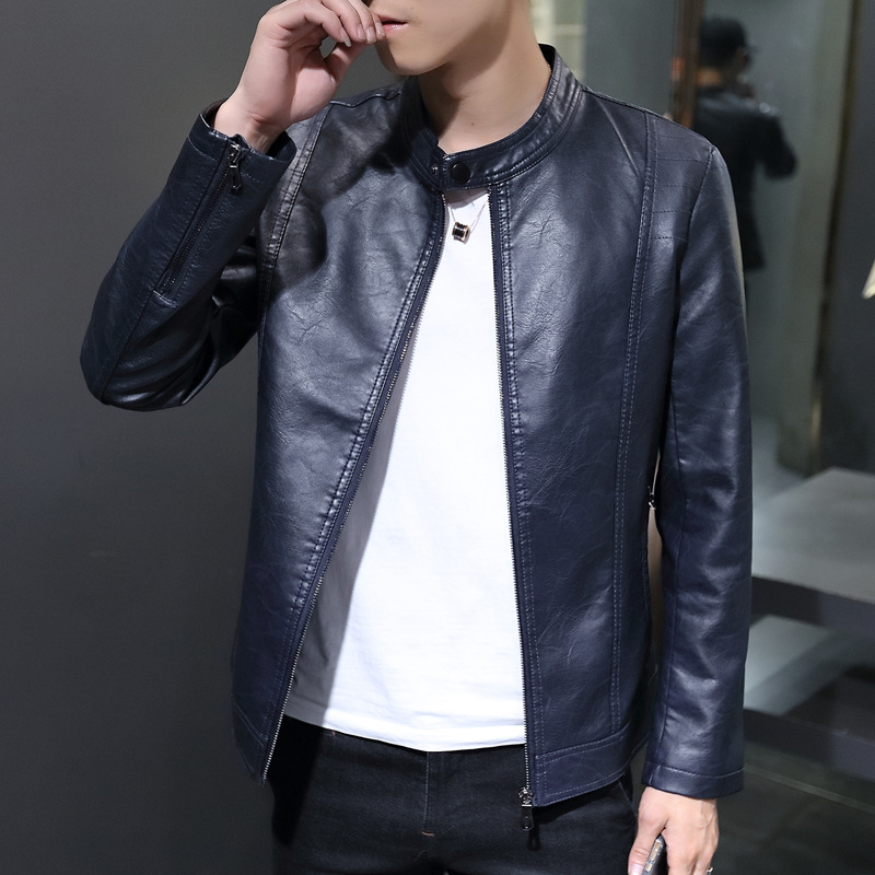 2019 New Style Men's Thin Cashmere PU Leather Men's Not Afford Pippi MEN'S Leather Jackets Coat MEN'S Leather Coat