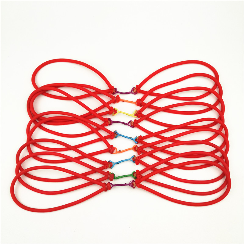 10/20pcs Outdoor Elastic Bungee Rubber Band For Fishing Shooting Slingshot Catapult Replacement Use On Fishing Harppon