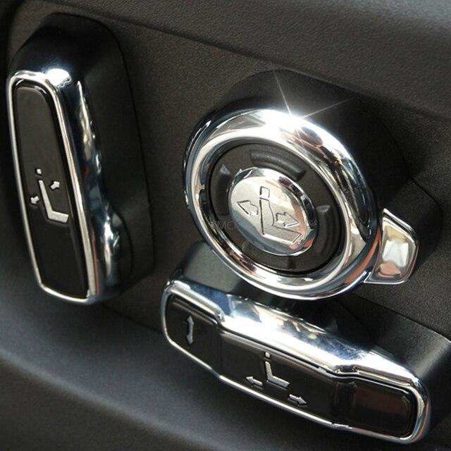 Car Accessories Seat Adjustment Button Frame Trim Decorative Cover Stickers For Jaguar F-Pace f pace X761 XE X760 XF/XFL X260 3
