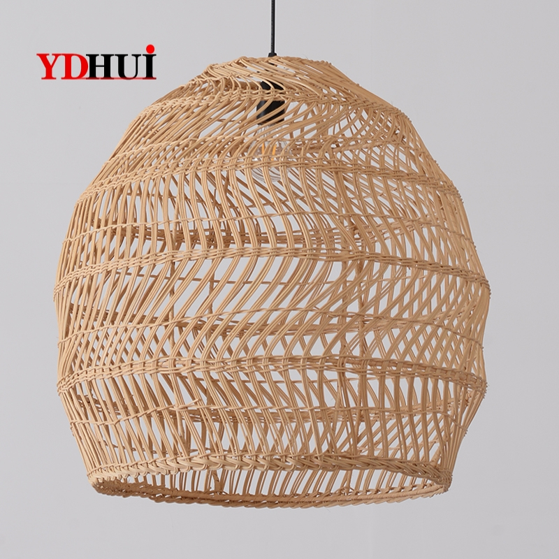 Modern Simple Light Luxury Rattan Chandelier Chinese Art Elegant Design Living Room Background Dining Room Study Villa Lamp